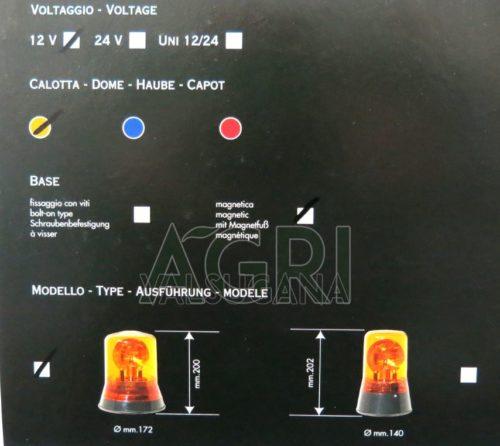 Lampeggiante 12 V base magnetica