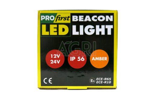lampeggiante led 12-24V base calimatata