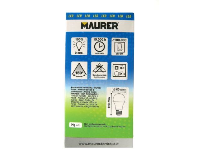 lampadina led maurer_15_watt