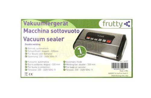 macchina sottovuoto Frutty doppia_saldatura