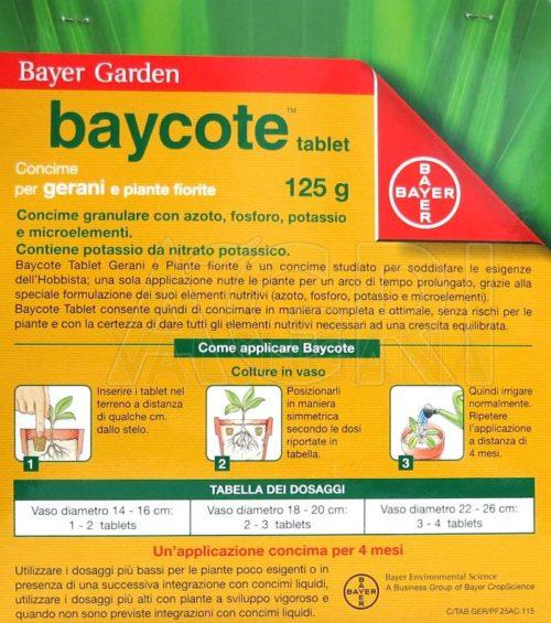 Baycote tablet gerani e piante fiorite