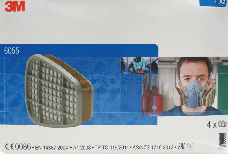 maschera 3m 6055