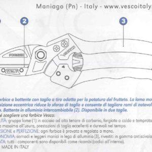 Forbice Vesco A4/S
