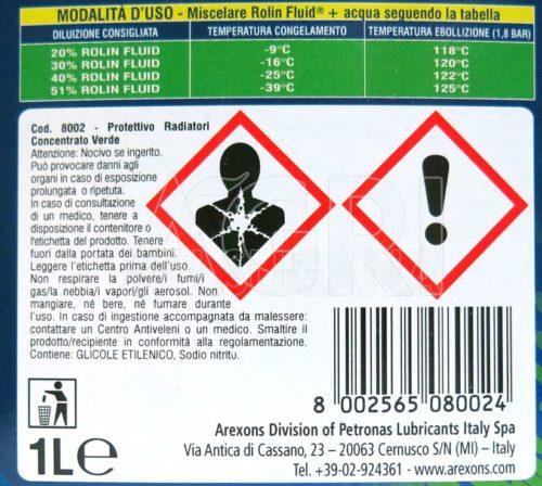 Rolin fluid verde Arexons ml 1000