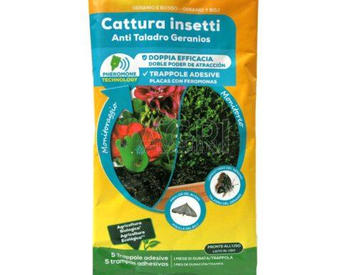 Solabiol trappola adesiva cattura insetti fiori 4 pz